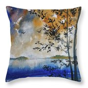 Islands Of Lake Michigan Throw Pillow
