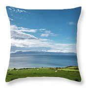 Isle Of Arran Under Cloud Throw Pillow