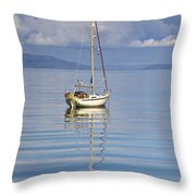 Isle Of Colonsay, Scotland Sailboat On Throw Pillow