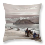 Isle Of Graia Gulf Of Akabah Arabia Petraea Feby 27th 1839 Throw Pillow