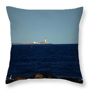 Isle Of Shoals From Afar Throw Pillow