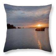 Isle Royale Bell Isle Sunrise  Throw Pillow