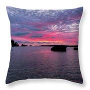 Isle Royale Belle Isle Dawn Throw Pillow