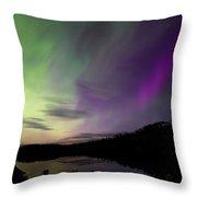 Isle Royale Pickerel Cove Aurora Throw Pillow