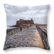 Islote De Los Ingleses - Lanzarote Throw Pillow