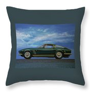 Iso Grifo Gl 1963 Painting Throw Pillow