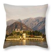 lake Maggiore, Borromean island, Piedmont Italy Throw Pillow