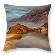 Isolated Cove Throw Pillow
