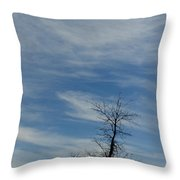 Isolated In The Blue Throw Pillow