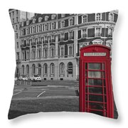 Isolated Phone Box Throw Pillow