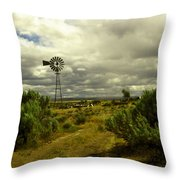 Isolated Windmill Throw Pillow