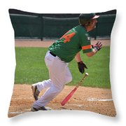 Isotopes Batter Takes Off Throw Pillow