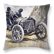 Isotta Fraschini 50hp 1908 Targa Florio  Throw Pillow
