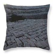 Israel, Jerusalem Mount Of Olives Throw Pillow