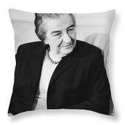 Israel Prime Minister Golda Meir 1973 Throw Pillow
