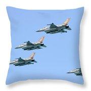 Israeli Air Force F-16  Throw Pillow