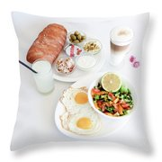 Israeli Breakfast Throw Pillow