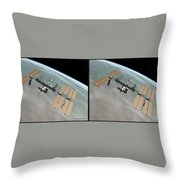 Iss - Gently Cross Your Eyes And Focus On The Middle Image Throw Pillow