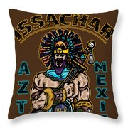 Issachar Aztec Warrior Throw Pillow
