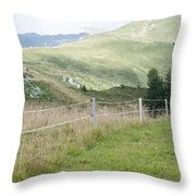 Isskogel Mountain Peak  Throw Pillow