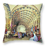 Istanbul Old Market Throw Pillow