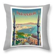 Istanbul Turkey 1939 World Travel Poster Throw Pillow
