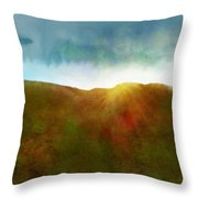 It Began To Dawn Throw Pillow by Antonio Romero