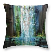 It Falls Here Throw Pillow