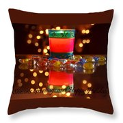 It Feels Like Christmas Throw Pillow by Rima Biswas