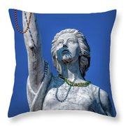 It Is All About The Beads-nola Throw Pillow