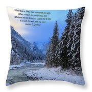 It Is Well Throw Pillow