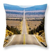 It Only Goes East Throw Pillow