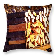 It Warms You Twice Throw Pillow