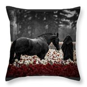 It Was A Dark And Rainy Night Throw Pillow