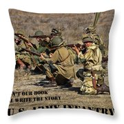 It Wasn't Our Book - Us Army Infantry Throw Pillow
