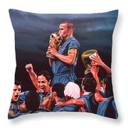 Italia The Blues Throw Pillow