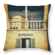 Italian Arched Balcony Throw Pillow