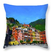 Italian Beachside  Throw Pillow