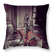 Italian Bike Throw Pillow