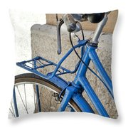 Italian Bike Throw Pillow by Robert Lacy