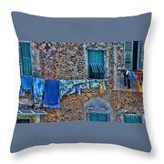 Italian Clothes Dryer Throw Pillow
