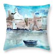 Italian Coast  Throw Pillow by Alexandra-Emily Kokova