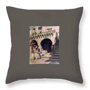 Italian Courtyard Henryk Semiradsky Throw Pillow