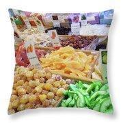 Italian Farmers Market Dried Fruits Throw Pillow