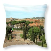 Italian Flag Throw Pillow