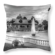 Italian Fountain Maymont B And W Throw Pillow