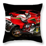 Italian Garage Throw Pillow