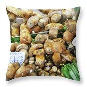 Italian Market Porcini Mushrooms  Throw Pillow