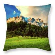 Italian Mountain Meadow Throw Pillow