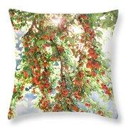 Italian Plum Tree Throw Pillow
